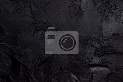 Fototapeta Black textured concrete