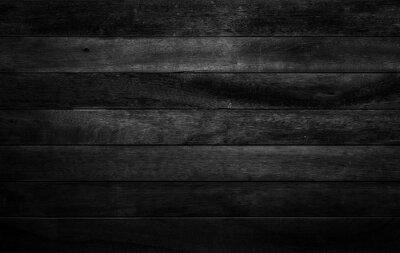 Fototapeta Black wood texture background coming from natural tree. The wooden panel has a beautiful dark pattern, hardwood floor texture