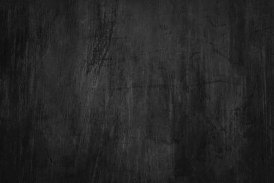 Fototapeta Blank blackboard background with scratches and dust. Detail of scratched chalkboard surface.