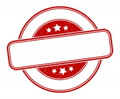 Fototapeta blank stamp. blank round grunge sign. label