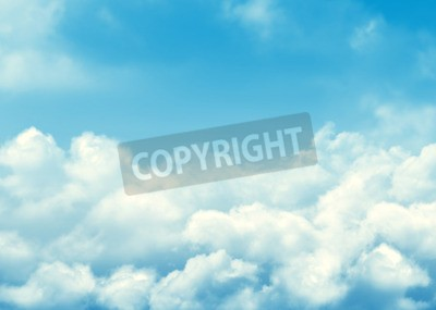 Fototapeta Błękitne niebo i chmury abstrakcyjne tło z miejsca na kopię