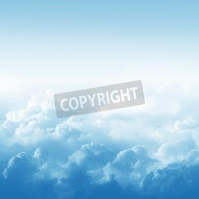 Fototapeta Błękitne niebo i chmury streszczenie ilustracji
