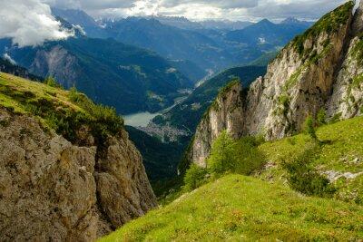 Fototapeta Blick ins Tal, Dolomiten Höhenweg 1, Alta przez 1, Italien