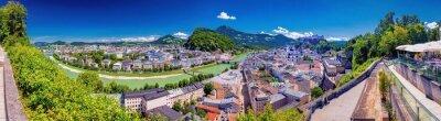 Fototapeta Blick vom Mönchberg auf die Altstadt von Salzburg, Österreich