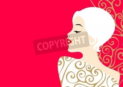 Fototapeta Blond dama