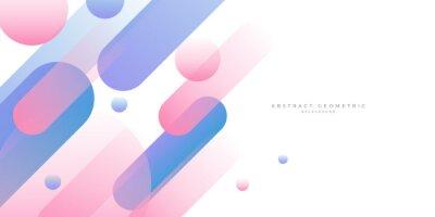 Fototapeta Blue and pink gradient geometric shape background