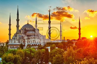 Fototapeta Blue Mosque at sunset