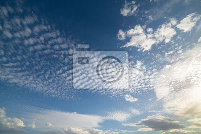 Blue sky and clouds. Summer day.
