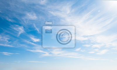 Fototapeta Blue sky with clouds over the horizon