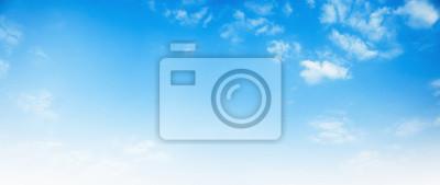 Fototapeta blue sky with white cloud background