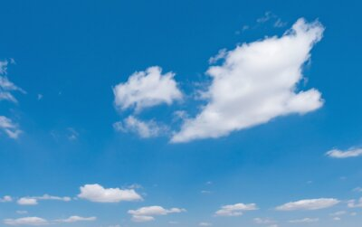 blue sky with white cloud background nature view