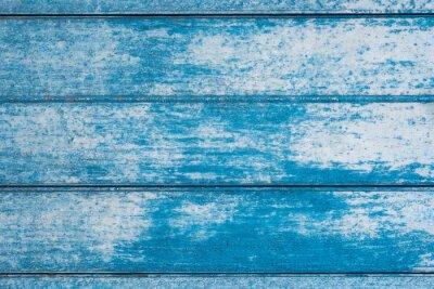 Fototapeta Blue wooden textured background design