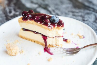 Fototapeta blueberry cheese cake