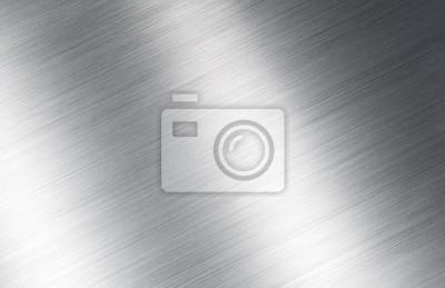 Fototapeta Błyszczące srebrny szczotkowanego metalu tekstury tła
