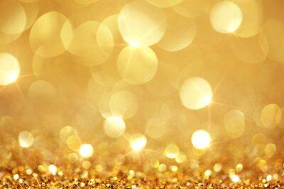 Fototapeta Błyszczące złote światła
