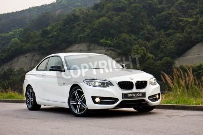 Fototapeta BMW 220i 2014 Sedan, wszystkie nowe serie, mały sedan.