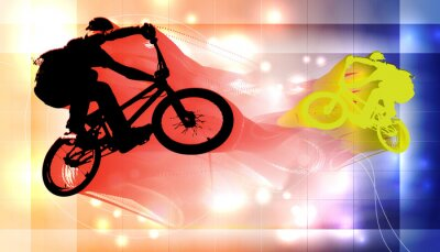 Fototapeta BMX rowerzysta
