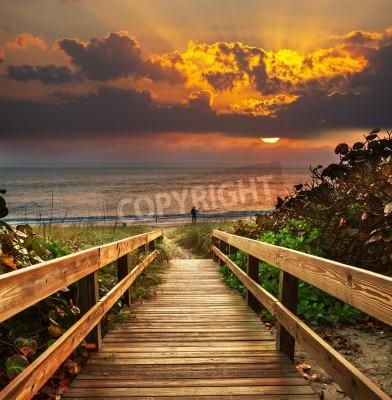 Fototapeta Boardwalk na plaży