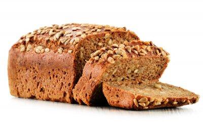 Fototapeta Bochenek chleba na białym tle