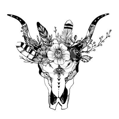 673bd122e043c boho-chic-obrazu-ilustracja-mody-dziki-czaszki-z -kwiatami-stylu-boho-dla-koszulki-plakaty-zaproszenia-400-87233423.jpg