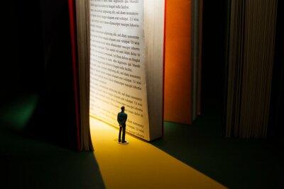 Fototapeta Books and imagination still life