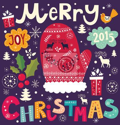 Fototapeta Boże Narodzenie ilustracji wektorowych