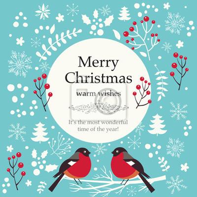 Fototapeta Boże Narodzenie ilustracji wektorowych z elementami Boże Narodzenie
