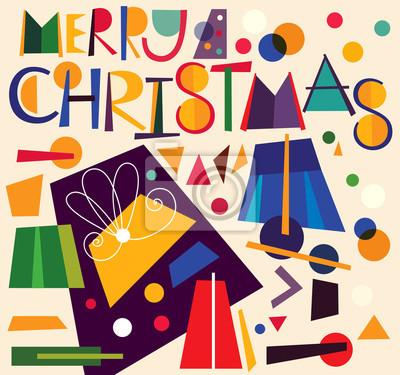 Fototapeta Boże Narodzenie ilustracji wektorowych z pola prezent