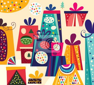 Boże Narodzenie ilustracji wektorowych z pola prezent