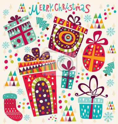 Fototapeta Boże Narodzenie karty z pudełka