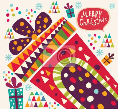 Boże Narodzenie karty z pudełka