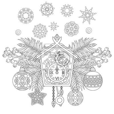 Fototapeta Boże Narodzenie Kolorowanki świąteczne Dekoracje Wiszące