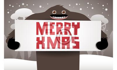 Boże Narodzenie z zabawnym Bigfoot