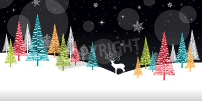 Fototapeta Boże Narodzenie Zima ramki - ilustracji. Ilustracji wektorowych zima Boże Narodzenie.