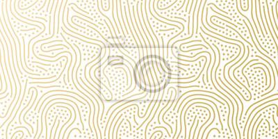 Fototapeta Bożenarodzeniowy wakacyjny złoty tło szablon dla kartka z pozdrowieniami lub opakunkowego papieru projekta. Wektorowy złoto i biały kropkowany wzór dla bożych narodzeń lub nowego roku opakowania confe
