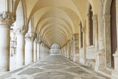 Fototapeta Brama pod Pałac Dożów w placu San Marco (Wenecja, Włochy). Poziomo.