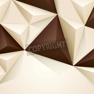 Fototapeta Brązowy i biały wektora geometrycznych tła.