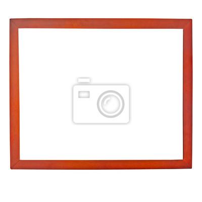 brązowy photo frame samodzielnie na białym tle