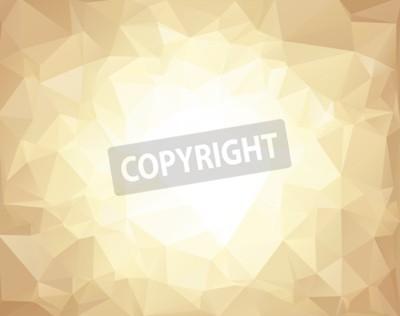 Fototapeta Brązowy Wielokątny Tła Mozaiki, Szablony Projektów Kreatywnych