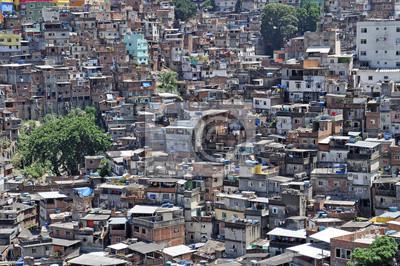 Brazylijski Favela w Rio de Janeiro
