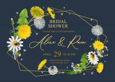 Fototapeta Bridal Shower Frame Composition
