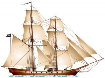 Fototapeta Brigantine Pirate Ship
