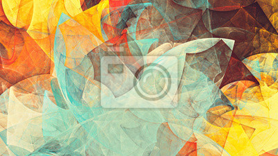 Bright future modern background. Abstract painting color texture. Modern futuristic pattern. Fractal artwork for creative graphic design