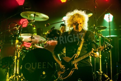 Fototapeta British rock band Queen performing at Olimpiyski stadium, Moscow during World Tour.