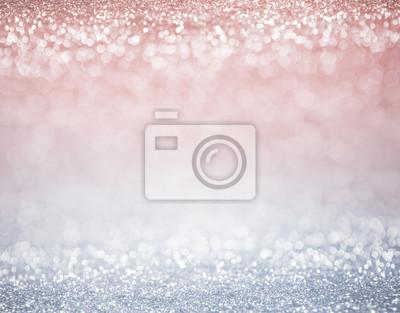 Fototapeta brokat światła pastelowe kolory tła. lekki srebrny i różowy. nieostre.