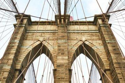 Fototapeta Brooklyn bridge pillar, New York City
