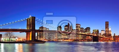 Brooklyn Bridge z Nowego Jorku Manhattan