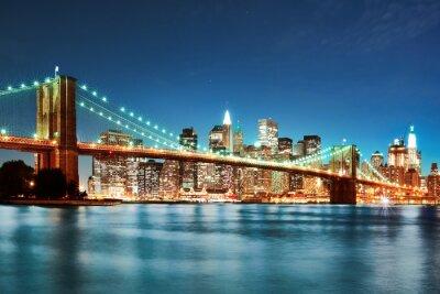 Fototapeta Brooklyn most w nocy