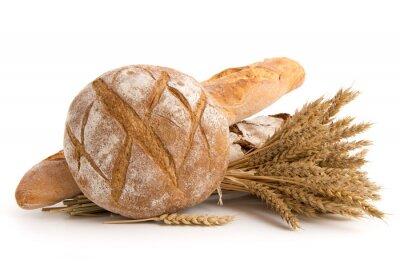 Fototapeta Brote und Weizenähren