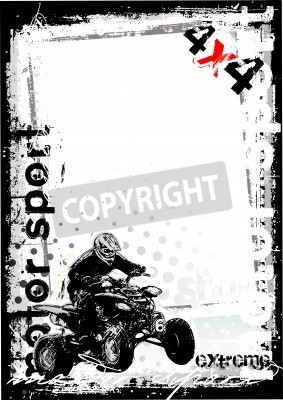 Fototapeta brudne Motor Sport 1